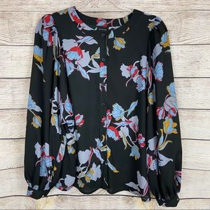 Who What Wear floral print blouse